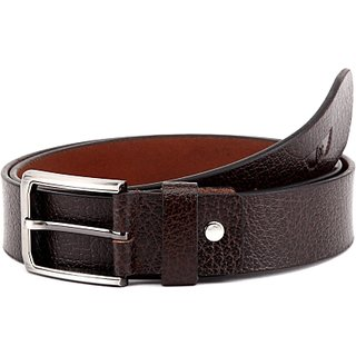 Royster Callus Men Casual Brown Genuine Leather Belt (Brown)