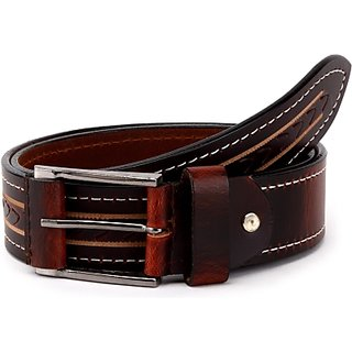 Wildhorn Men Casual Brown Genuine Leather Belt (Brown)
