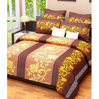Little Joy Beautifull Floral Double Bedsheet With 2 Pillow Cover
