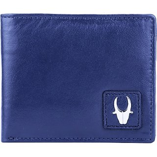Wildhorn Men Blue Genuine Leather Wallet (6 Card Slots)