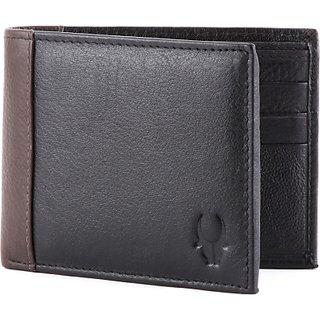 Wildhorn Men, Women Black Genuine Leather Wallet (5 Card Slots)