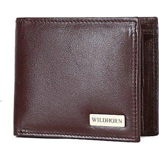 Wildhorn Men Casual Brown Genuine Leather Wallet (6 Card Slots)