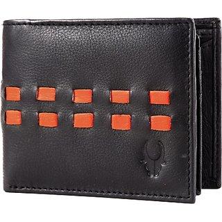 Wildhorn Men Casual Black Genuine Leather Wallet (6 Card Slots)
