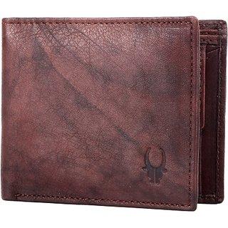 Wildhorn Men Casual Brown Genuine Leather Wallet (4 Card Slots)