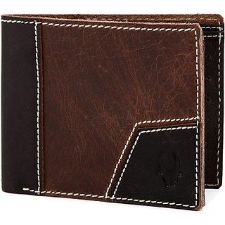 Wildhorn Men Casual Brown Genuine Leather Wallet (7 Card Slots)