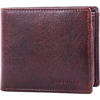 Wildhide Men Casual, Formal Brown Genuine Leather Wallet (6 Card Slots)