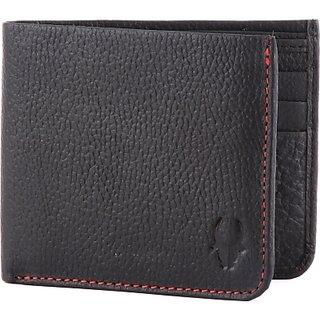 Wildhorn Men Casual, Formal Black Genuine Leather Wallet (6 Card Slots)