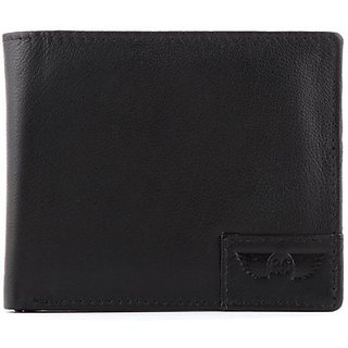 Royster Callus Men Casual, Formal Black Genuine Leather Wallet (5 Card Slots)