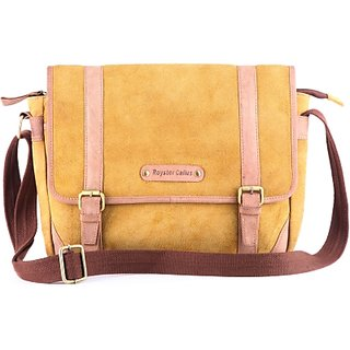 Royster Callus Men, Women Casual Brown Genuine Leather Sling Bag