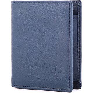 Wildhorn Men Casual, Formal Blue Genuine Leather Wallet (6 Card Slots)