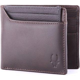 Wildhorn Men Casual, Formal Brown Genuine Leather Wallet (6 Card Slots)