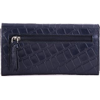 Royster Callus Women Casual, Formal Black Genuine Leather Wallet (6 Card Slots)