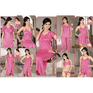 b0e33cf4dc Pink 12p Lingerie Set Babydoll Top Shorts Capri Skirt Nighty Gown Oc Robe  2045