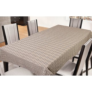 FREELY COFFEE COLOR COTTON TABLE COVER FOR 6 SEATERS (LI-CNCO-A)
