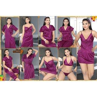 9927e6f656 Cherry 12pc Lingerie Set Babydoll Top Capri Pajama Skirt Nighty Gown Oc Robe