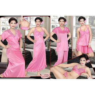 1cb204abeb Sleep Set Pink 8p Bra Panty Top Skirt Sleep Shirt Pajama Nighty Robe 2046C