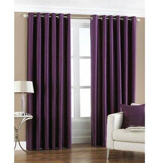 k decor purple plain curtain fabric(5 mtr)