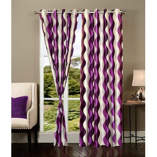 K Decor Multicolor Printed Polyester Curtain Fabric (5m)