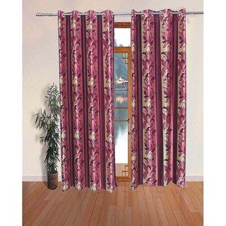 k decor pink print curtain fabric(5 mtr)