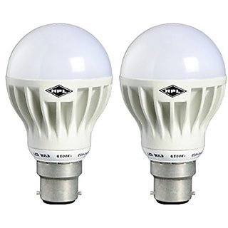 HPL LED GLO 7W - White BULB Pack of 2