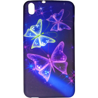 Glowing In The Dark Butterfly Design Silicon  Back Case For HTC Desire 816 - D1