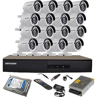Hikvision 7216-HGHI-E1 16 DVR 720P 16 Bullet Cameras + 1 TB HDD Total KIT