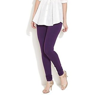 Purple Cotton Lycra Legging