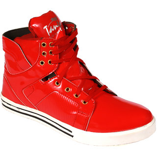 Mens Red Lace-up Boot