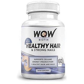 Wow Biotin Healthy Hair & Strong Nails, 60 Capsules