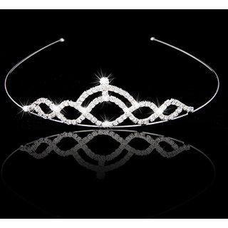 Bridal Wedding Prom Crystal Rhinestone Crown Tiara Headband