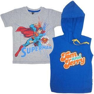38b42c9e83aa Kidsville Half Sleeve 5/6 Years Multi Colour Boys Round Neck T-Shirt (Pack  Of 2) - (Kidsville MF1TB07 Multi)