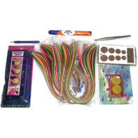 Quilling Tools And Strips Value Pack - 1200 Quilling Strips And 6 Tools Pack