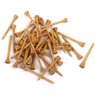 Professional Nature Wood Wooden Golf Tees 54Mm 2 1/8Long 100Pcs