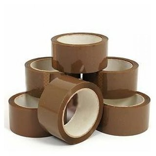Brown Tape Pack Of 6 ( packing material ) Get knife free