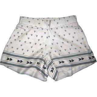 Ladies Viscose Border Design Shorts