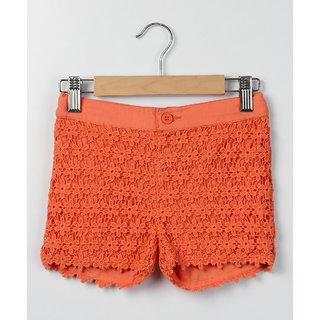 Beebay Orange Lace Short Orange