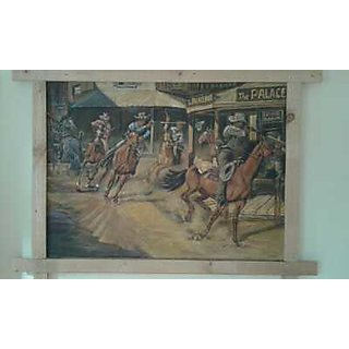 cowboys painting on canvas