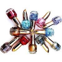 HD Sparkle Nail Paint Set Of 12 Pcs. With Multi Colors