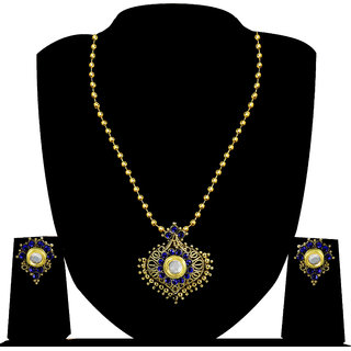 Zaveri Pearls Traditional Pendant Set-ZPFK4182