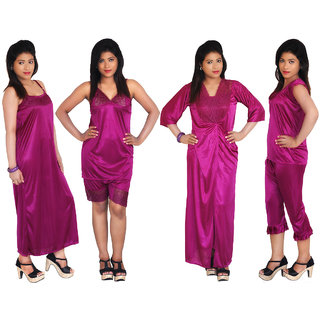 Ghazal premium nightwear sleepwear lingerie complete set of 6pcs