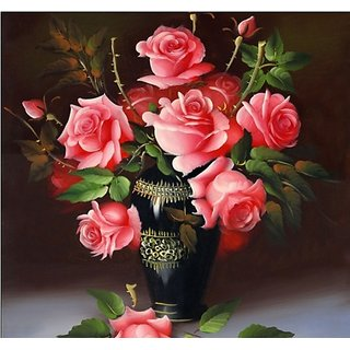 Pictures On The Wall For Living Room Bedroom Rose Flower Handmade Paintings Home