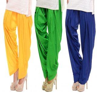 Combo - Yellow/Green/Blue Patiala Salwar