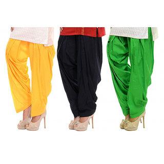 Combo - Yellow/Black/Green Patiala Salwar