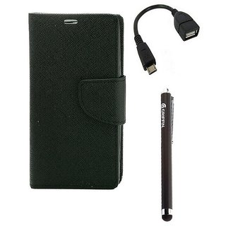 Ygs Diary Wallet Case Cover  For   Motorola Moto X Play-Black ,Micro Otg  And Griffin Stylus Pen