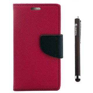 Ygs Diary Wallet Case Cover  For  Sony Xperia Z3-Pink And Griffin Stylus Pen
