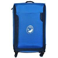 American Club 28 inch 4 Wheel Teflon Trolley Bag Blue