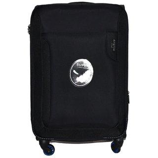American Club 28 inch 4 Wheel Teflon Trolley Bag Black