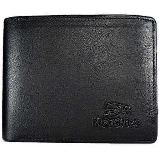 Moochies Genuine Leather Gents Wallet Black (emzmocgw1604bl)