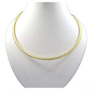 Oroca Arts Awesome 17.5 Inch Gold Plated Italian Silver Chain