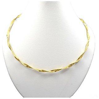Oroca Arts Elegant 17.5 Inch Gold Plated Italian Silver Chain